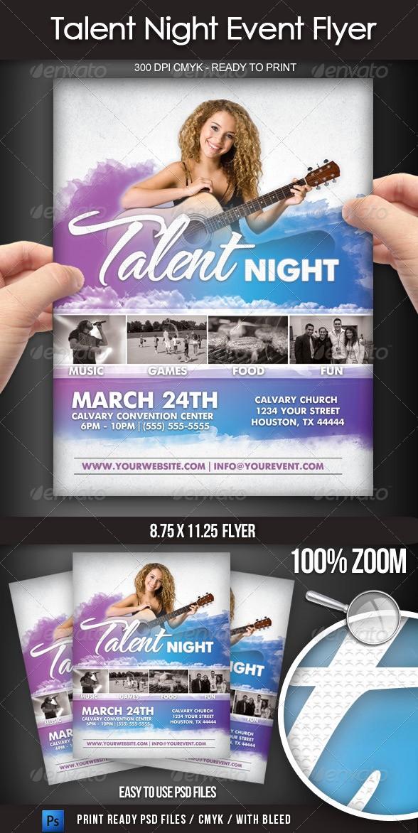 Free Talent Show Flyer Templates Beautiful Free Talent Show Flyer Template Tinkytyler Stock