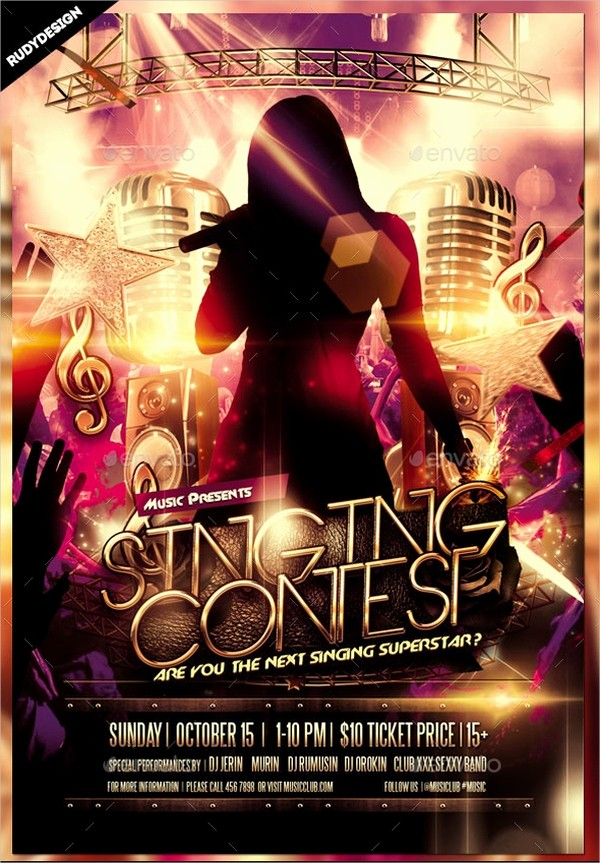 Free Talent Show Flyer Templates Best Of 20 Contest Flyers Psd Ai Vector Eps