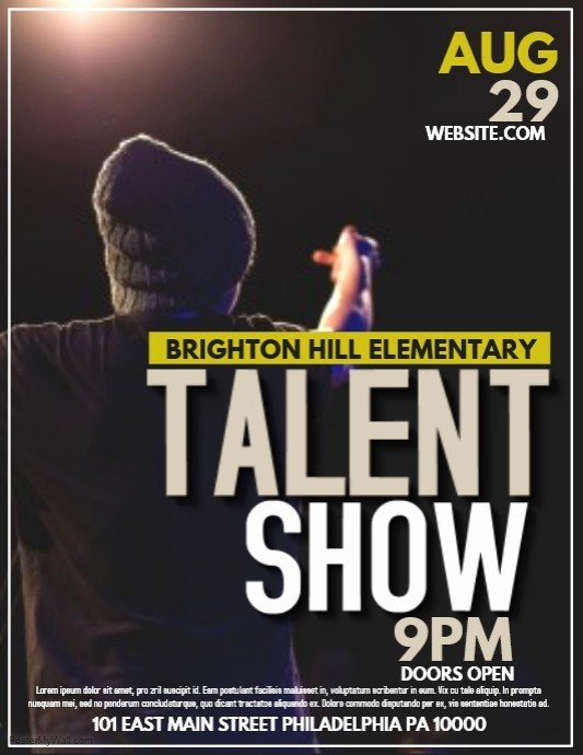 Free Talent Show Flyer Templates Best Of Talent Template