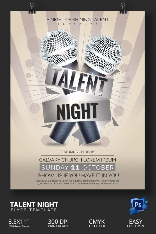 Free Talent Show Flyer Templates Elegant 18 Amazing Talent Show Flyer Templates Psd