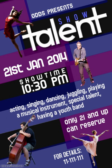 Free Talent Show Flyer Templates Elegant Talent Show Flyer Template
