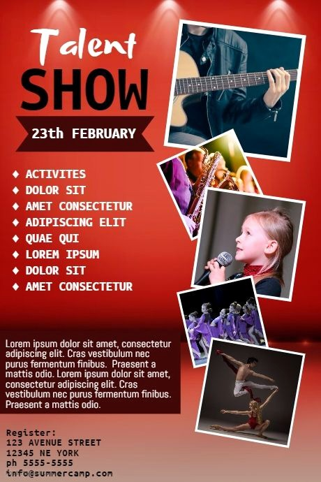 Free Talent Show Flyer Templates Lovely Talent Show Flyer Template Postermywall