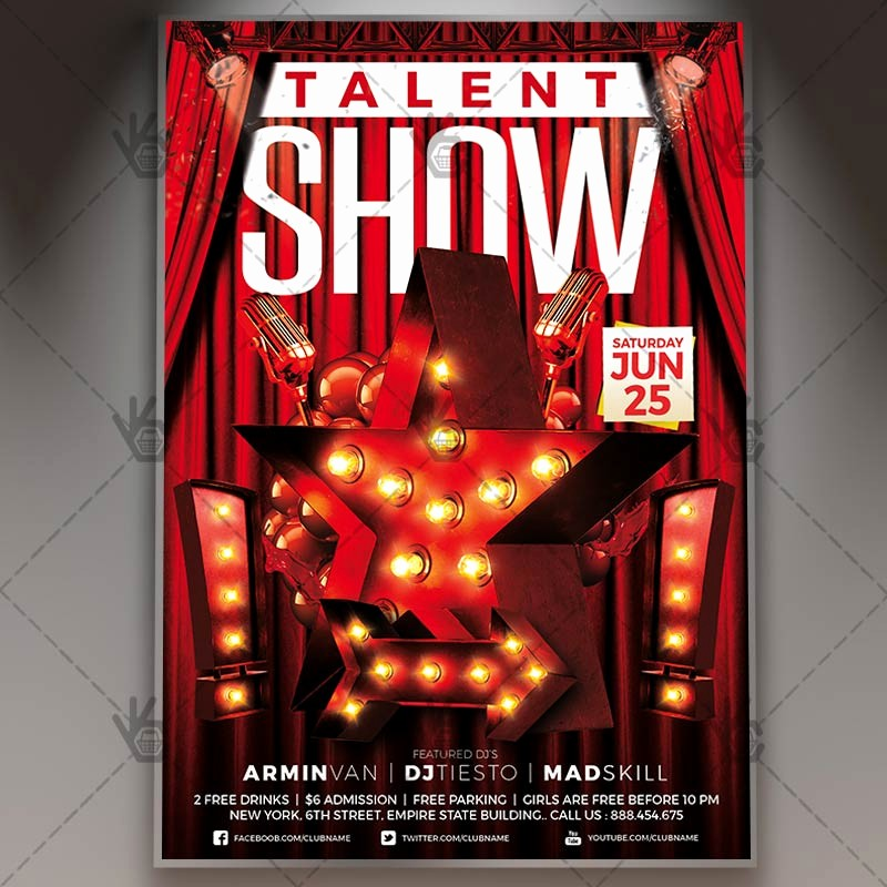 Free Talent Show Flyer Templates Lovely Talent Show Premium Flyer Psd Template