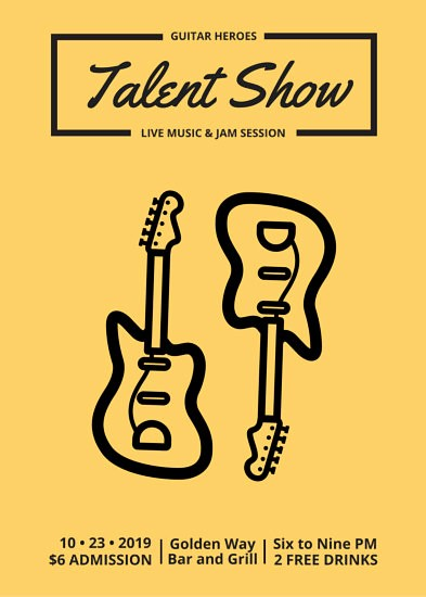 Free Talent Show Flyer Templates Luxury Talent Show Flyer Templates Canva
