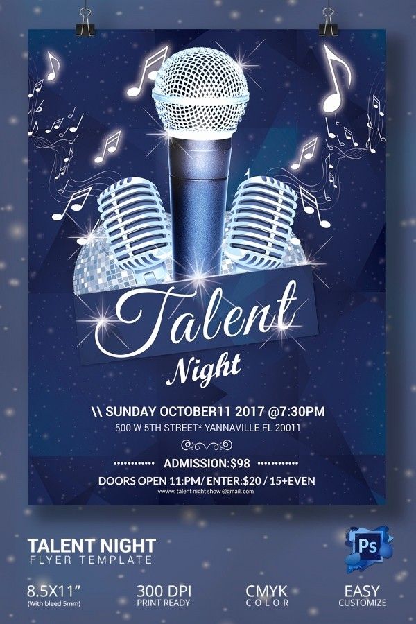 Free Talent Show Flyer Templates Unique 16 Amazing Talent Show Flyer Templates Psd