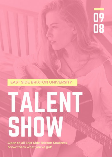 Free Talent Show Flyer Templates Unique Blue Yellow Star Talent Show Auditions Flyer Templates