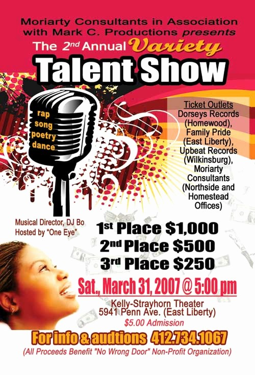Free Talent Show Flyer Templates Unique School Talent Show Program Template Bing Images