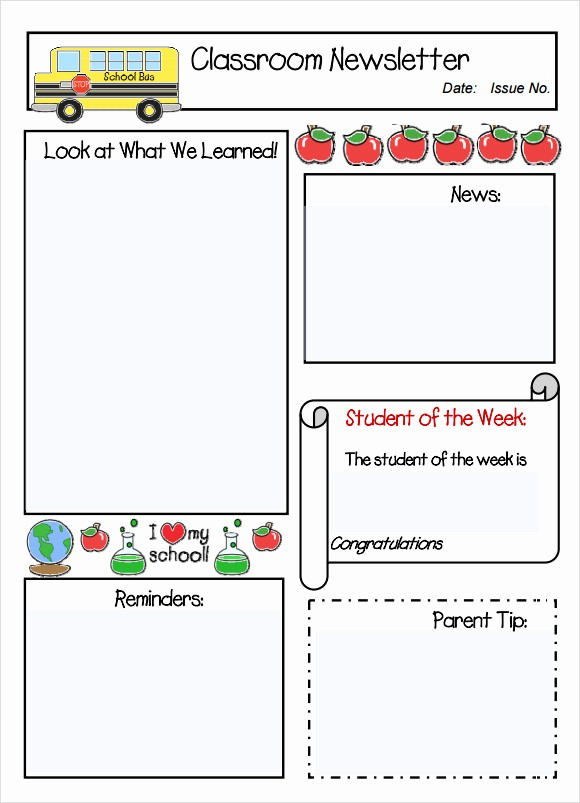 Free Teacher Newsletter Templates Word Awesome Classroom Newsletter Template 7 Free Download for Pdf Word