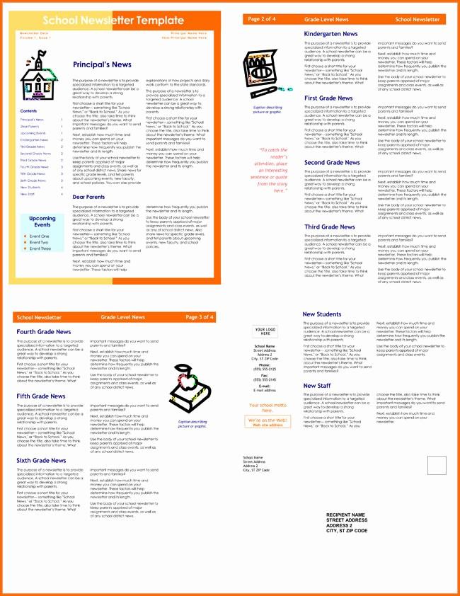 Free Teacher Newsletter Templates Word Beautiful 10 Classroom Newsletter Templates Free and Printable