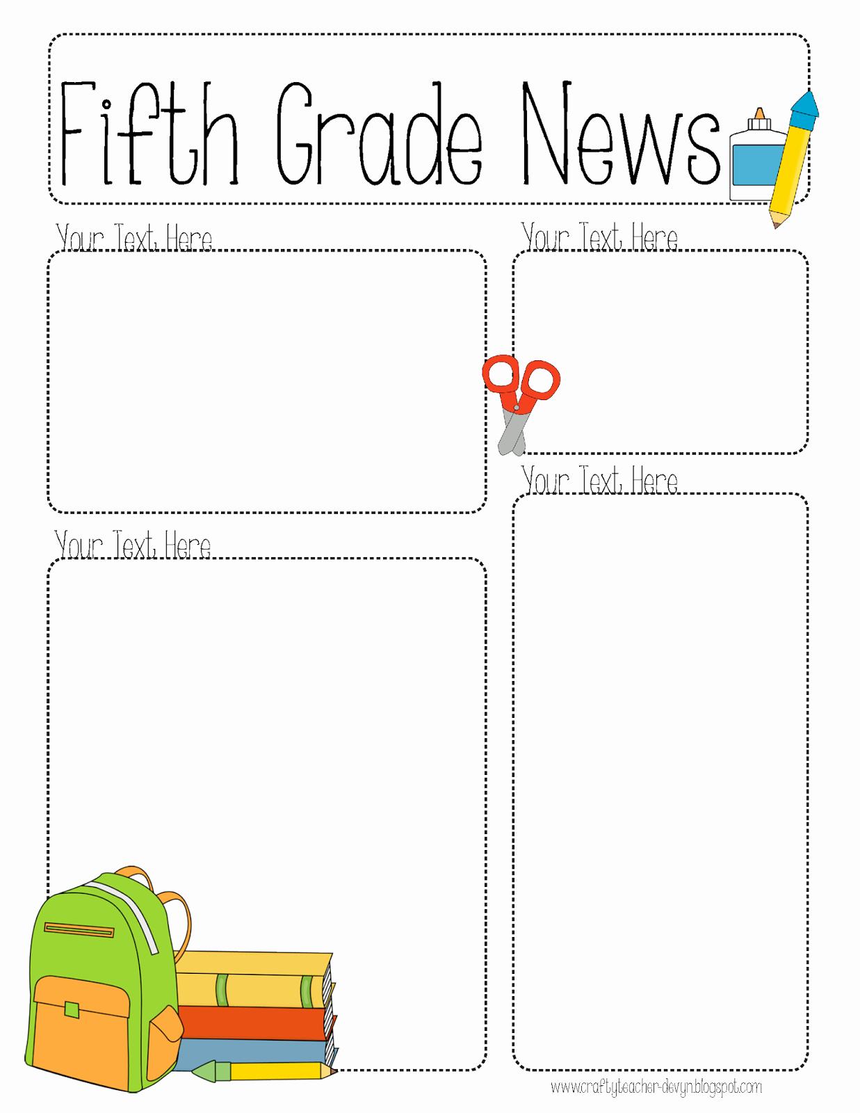 Free Teacher Newsletter Templates Word Best Of Pletely Editable Newsletter for All Grades