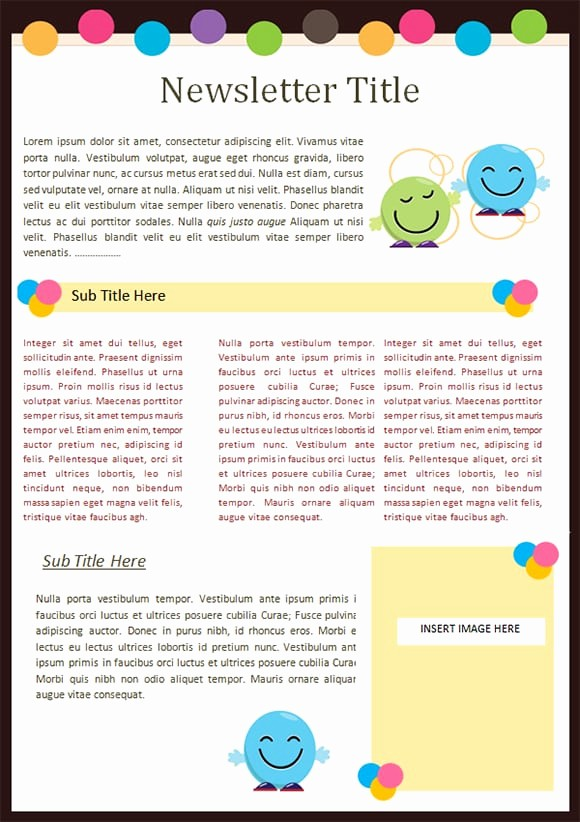 Free Teacher Newsletter Templates Word Inspirational Kindergarten Newsletter Templates Free formats Excel Word