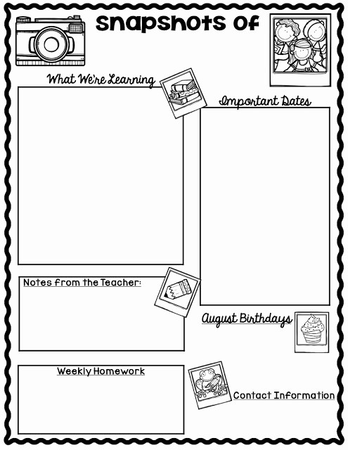 Free Teacher Newsletter Templates Word Lovely the Teaching Oasis Monthly Calendars and Newsletter