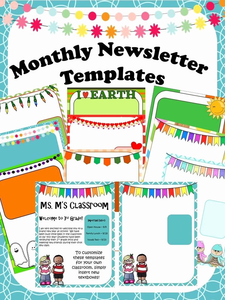Free Teacher Newsletter Templates Word Lovely Using Newsletters In Your Classroom Has Never Been Easier