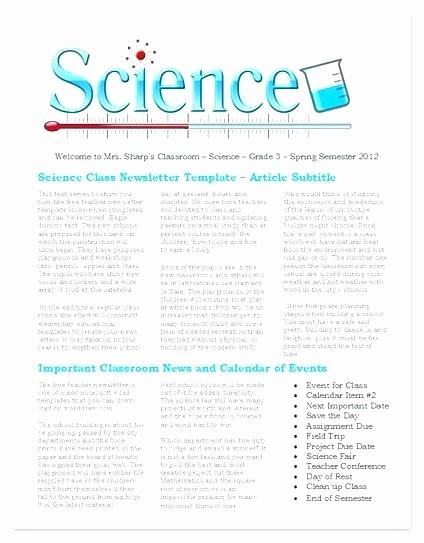 Free Teacher Newsletter Templates Word Lovely Wel E Back to School Newsletter Template Word Free