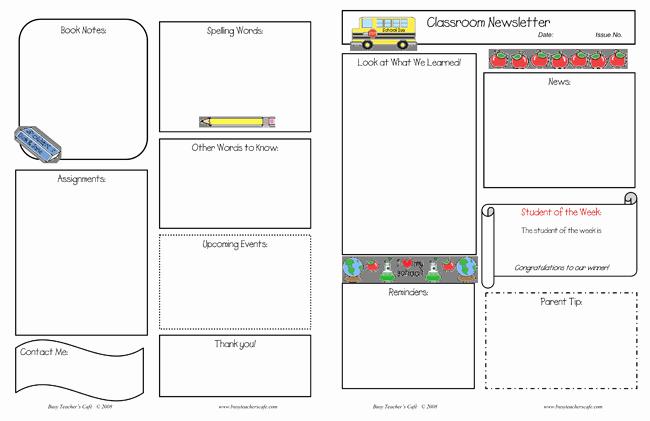Free Teacher Newsletter Templates Word Luxury 10 Classroom Newsletter Templates Free and Printable