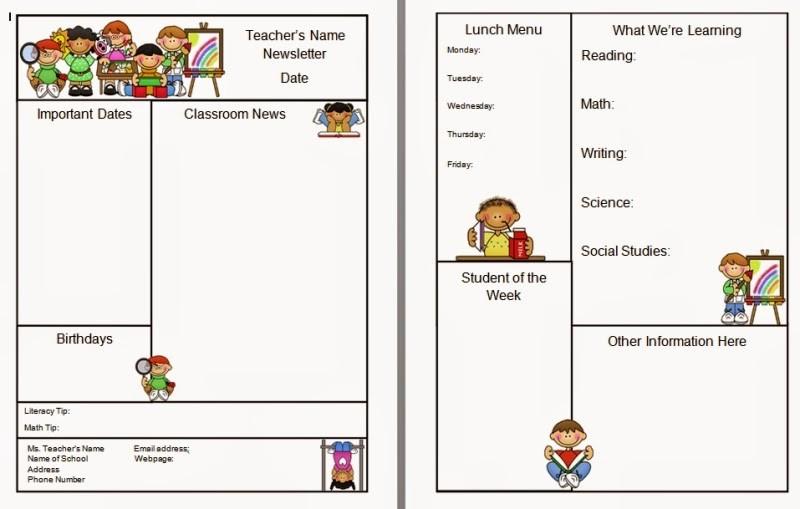 Free Teacher Newsletter Templates Word Luxury Warren Sparrow Classroom Newsletter Template