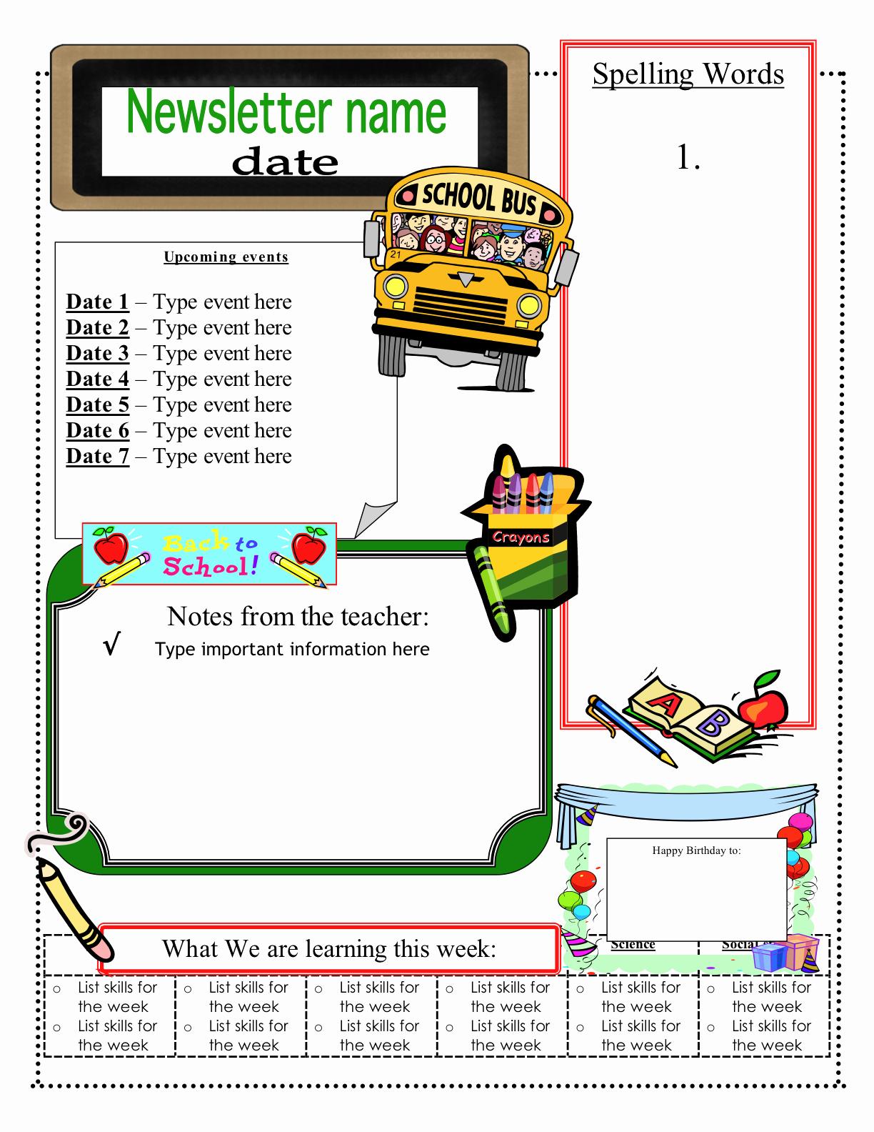 Free Teacher Newsletter Templates Word New Free Classroom Newsletter Templates Check Out these Eight