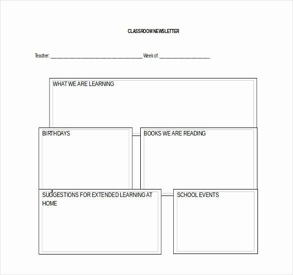 Free Teacher Newsletter Templates Word New Word Newsletter Template – 31 Free Printable Microsoft