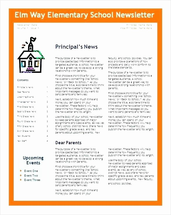 Free Teacher Newsletter Templates Word Unique Elementary Classroom Newsletter Template – Freewarearenafo