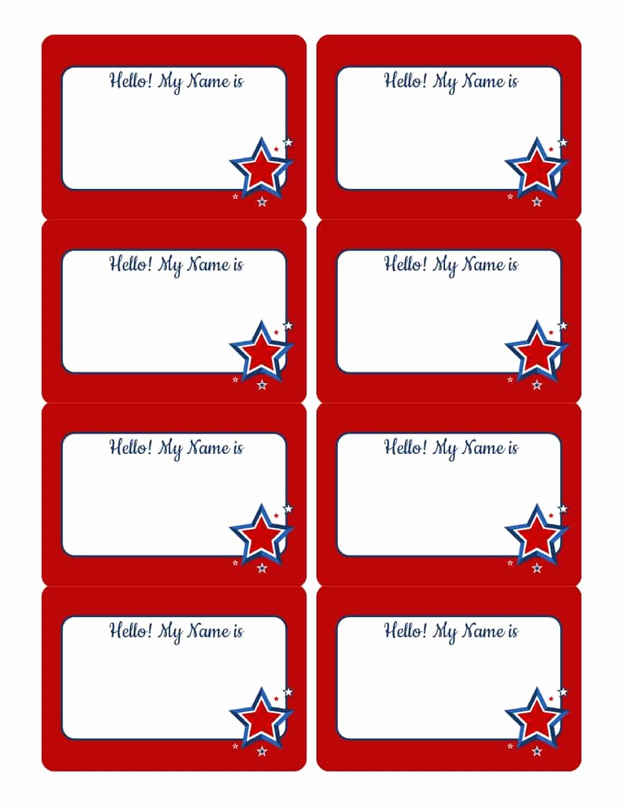 Free Template for Name Tags Awesome 47 Free Name Tag Badge Templates Template Lab