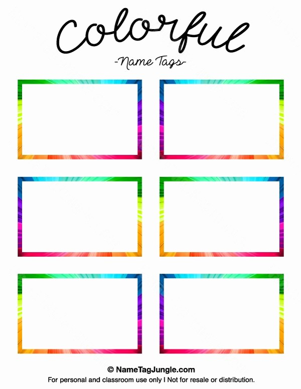 Free Template for Name Tags Awesome Printable Name Tag Templates