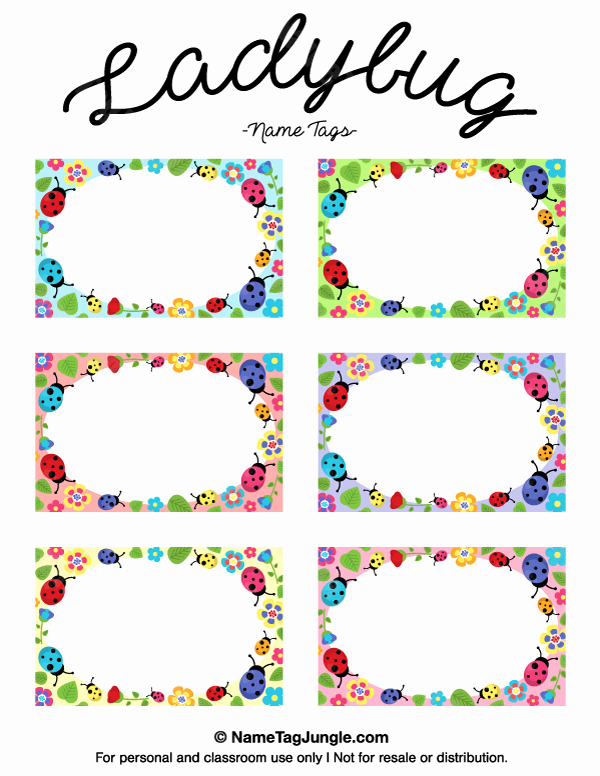 Free Template for Name Tags Best Of Printable Ladybug Name Tags