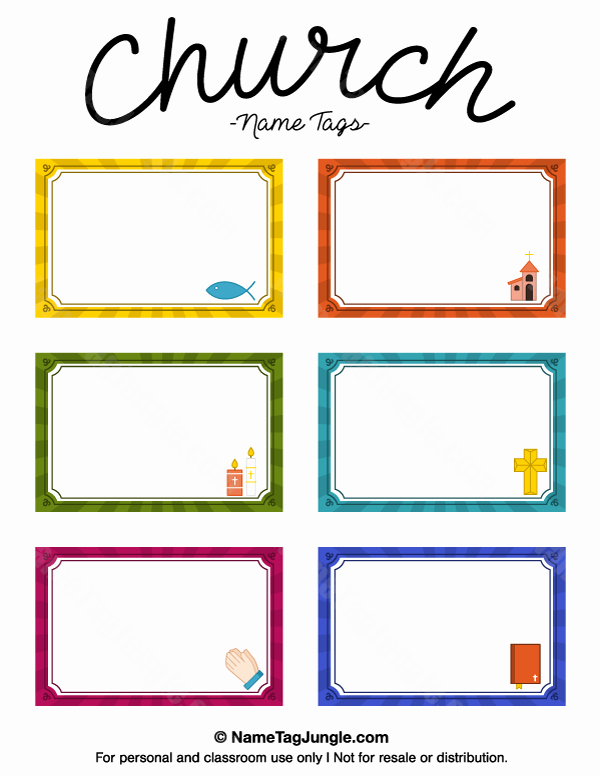 Free Template for Name Tags Elegant Church Name Tags