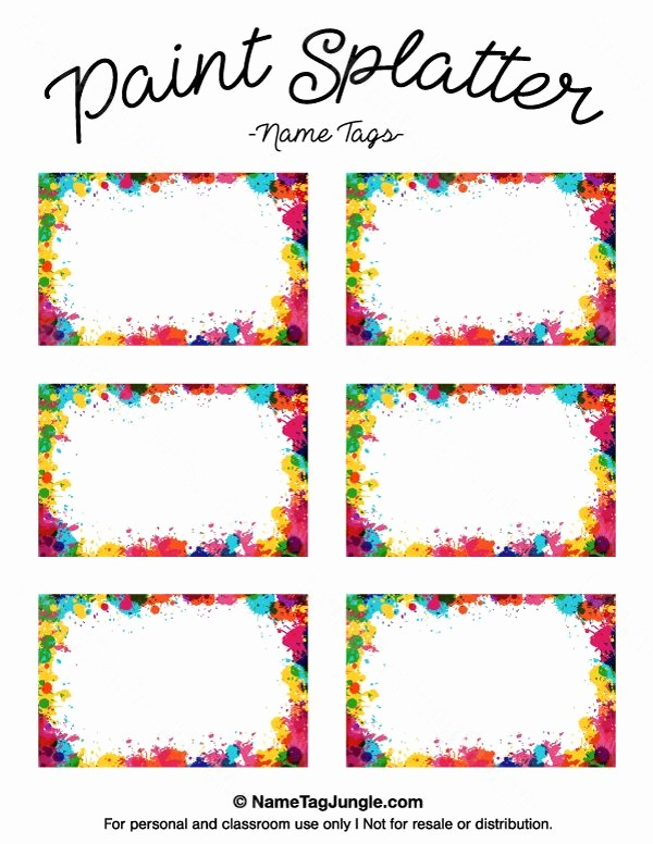 Free Template for Name Tags Inspirational Pin by Muse Printables On Name Tags at Nametagjungle