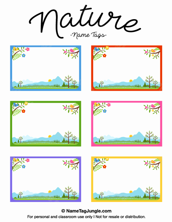 Free Template for Name Tags Inspirational Printable Nature Name Tags