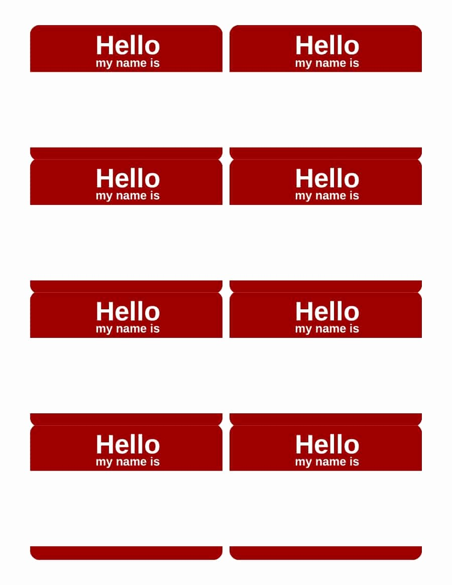 Free Template for Name Tags New 47 Free Name Tag Badge Templates Template Lab