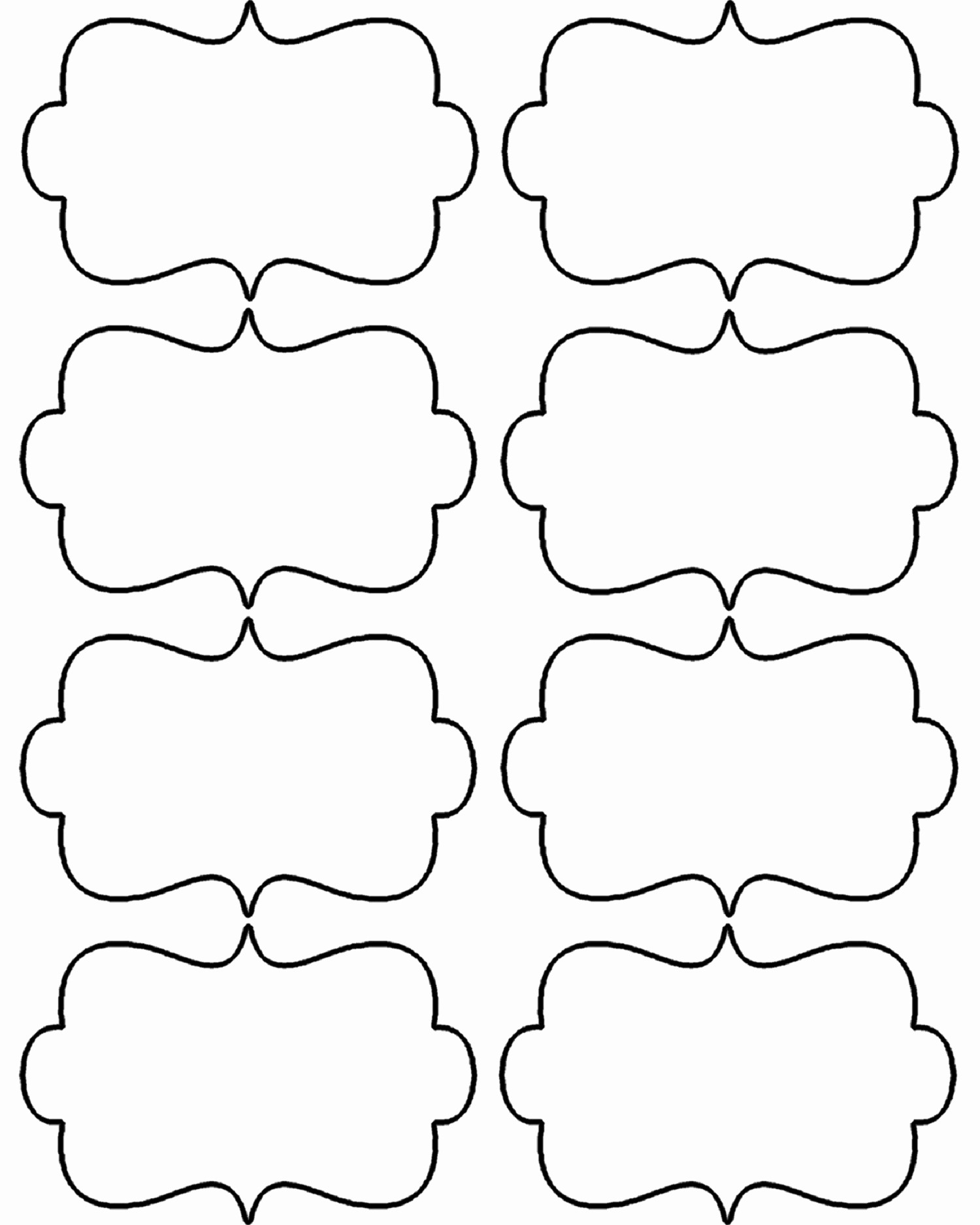 Free Template for Name Tags New Free Printable Gift Tags for Cute Tags