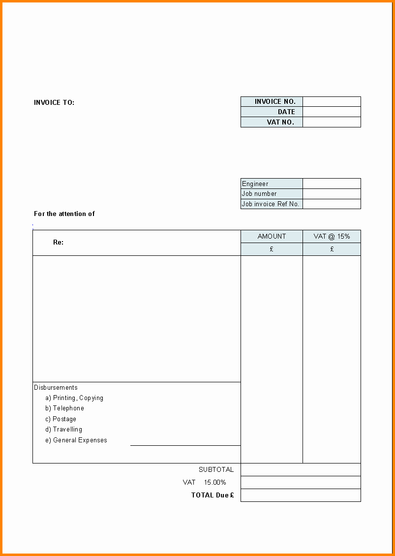 Free Templates for Billing Invoices Beautiful 9 Blank Hotel Bill format