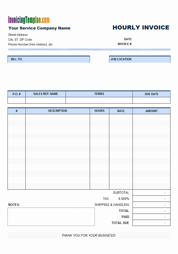 Free Templates for Billing Invoices Beautiful Free Invoice Template for Hours Worked 20 Results Found