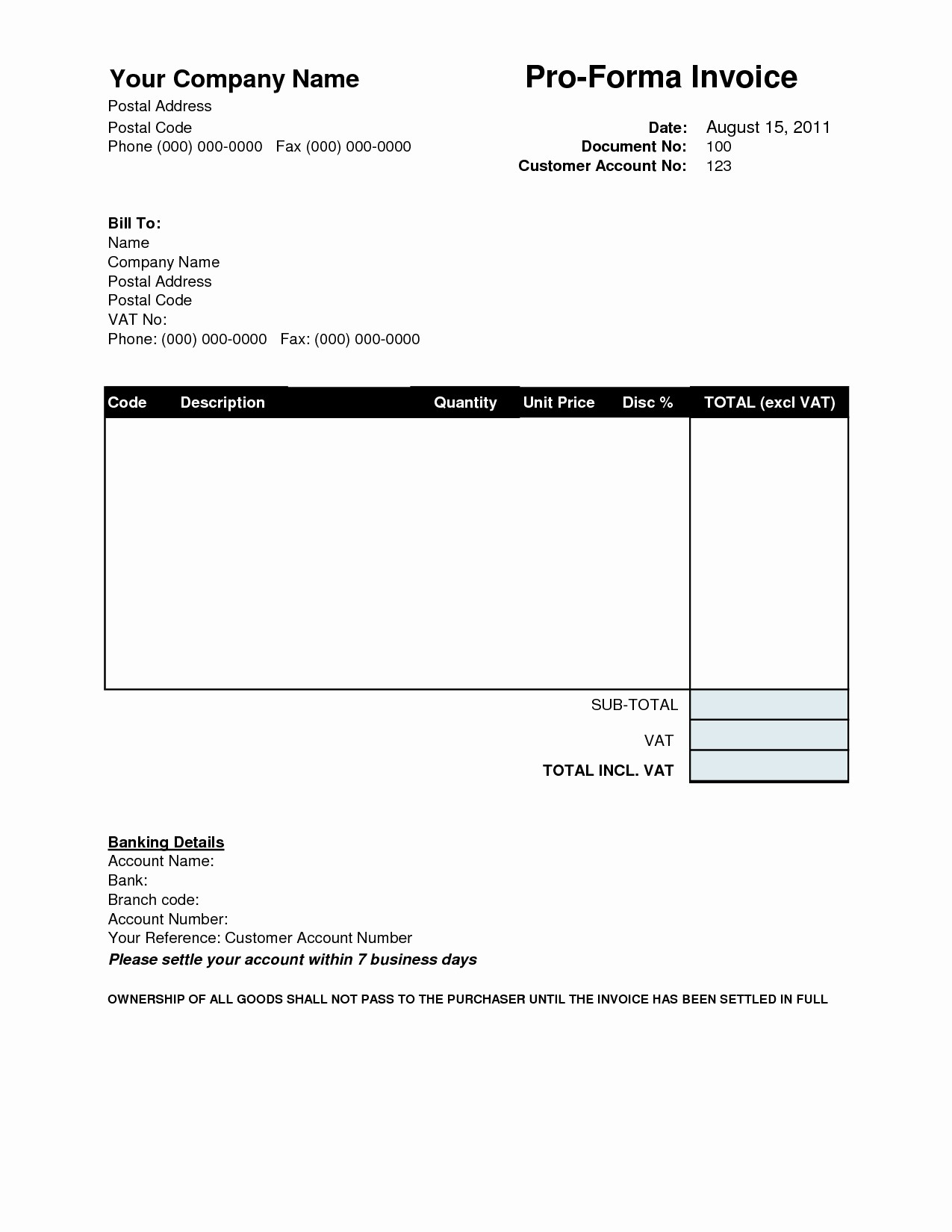 Free Templates for Billing Invoices Beautiful Proforma Invoice Template Download Free Invoice Template