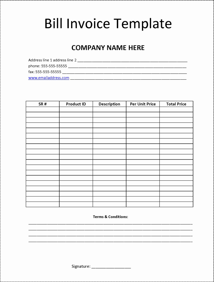 Free Templates for Billing Invoices Best Of Billing Invoice Template