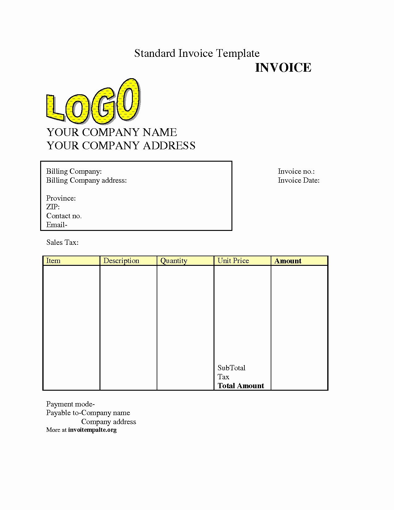 Free Templates for Billing Invoices Best Of Invoice Template Download Free Invoice Template Ideas