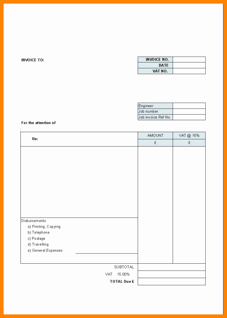 Free Templates for Billing Invoices Best Of Printable Invoice Invoice Template Trakore Document