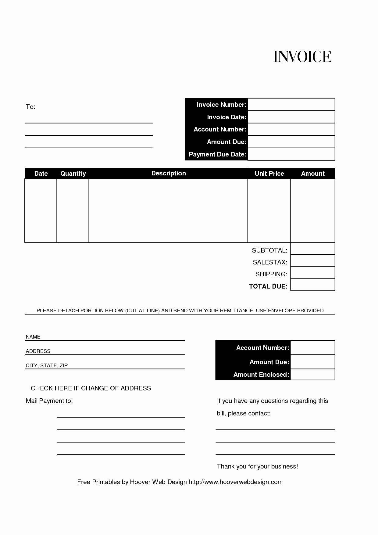 Free Templates for Billing Invoices Elegant Free Editable and Printable Billing Invoice Template