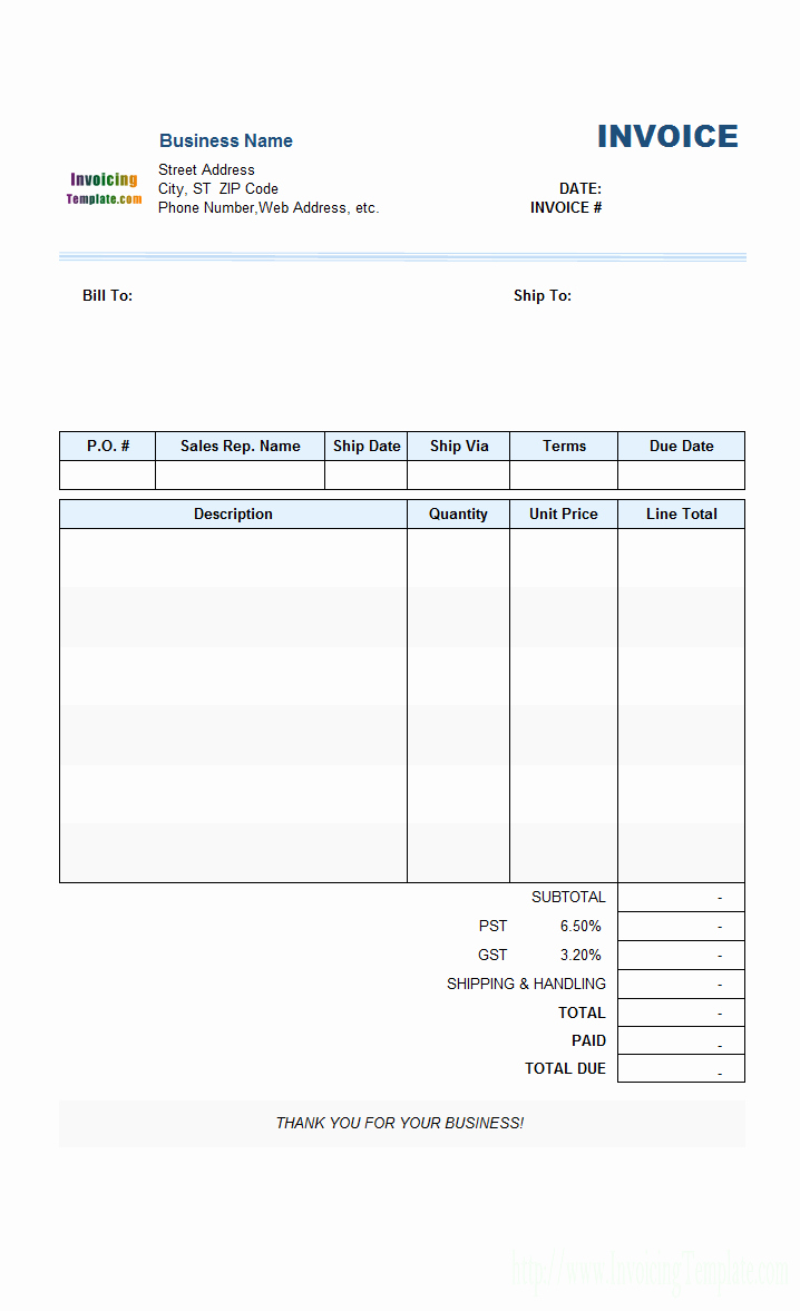 Free Templates for Billing Invoices Luxury Blank Invoices to Print Mughals
