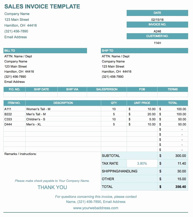 Free Templates for Billing Invoices New Free Google Docs Invoice Templates