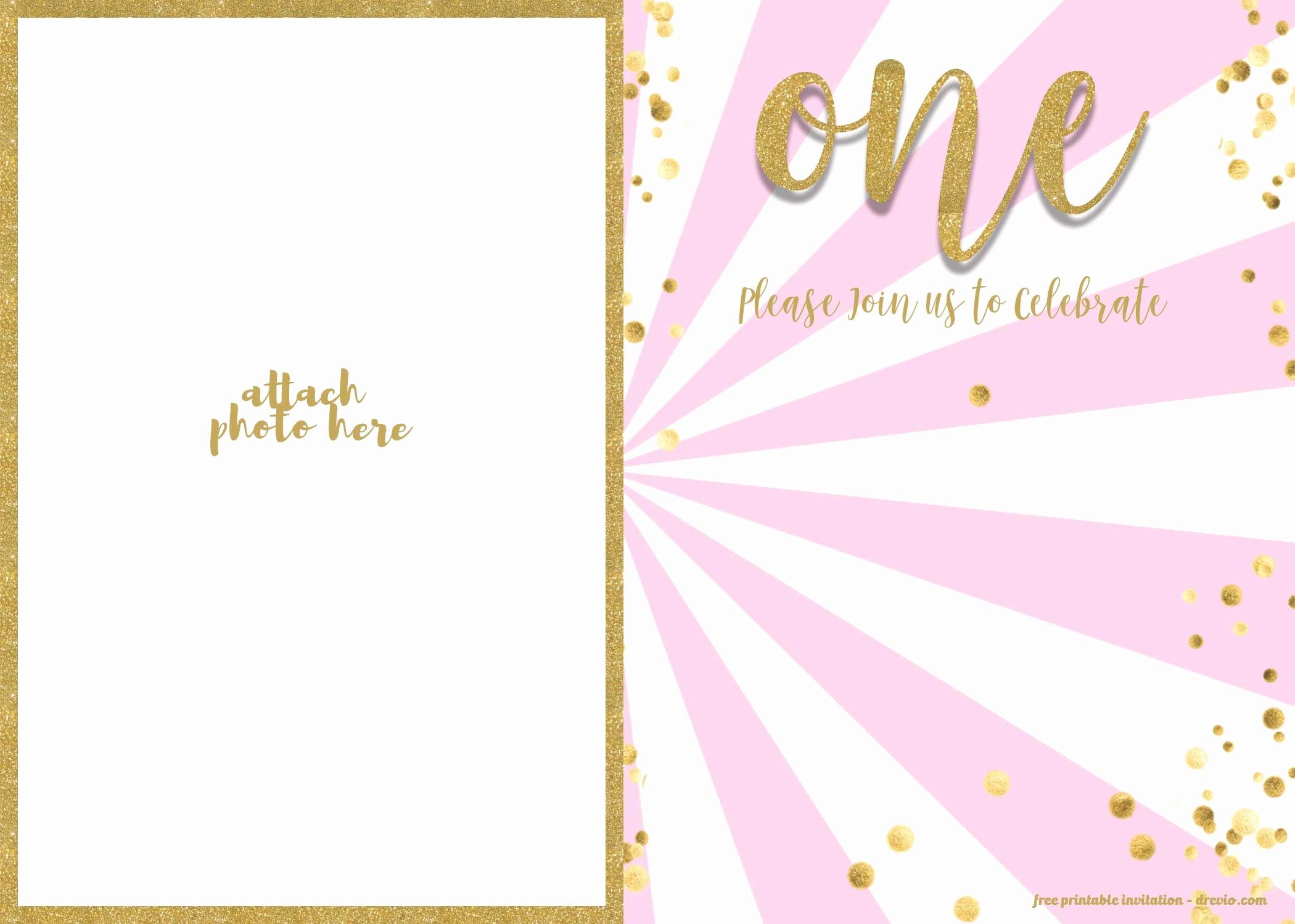 Free Templates for Birthday Invitations Awesome Free 1st Birthday Invitations Template for Girl – Free