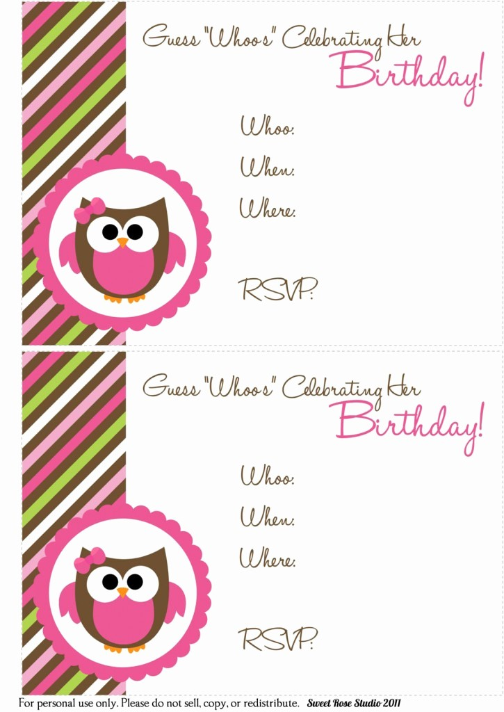Free Templates for Birthday Invitations Best Of 41 Printable Birthday Party Cards & Invitations for Kids