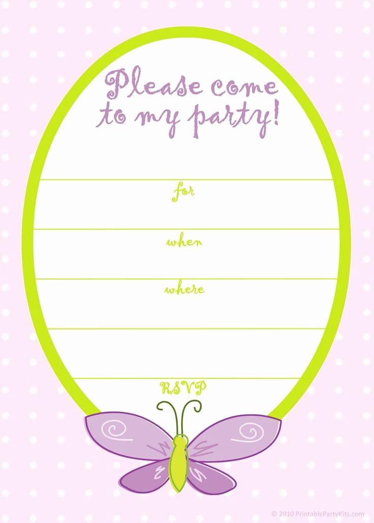 Free Templates for Birthday Invitations Fresh Free Printable Girls Birthday Invitations – Free Printable