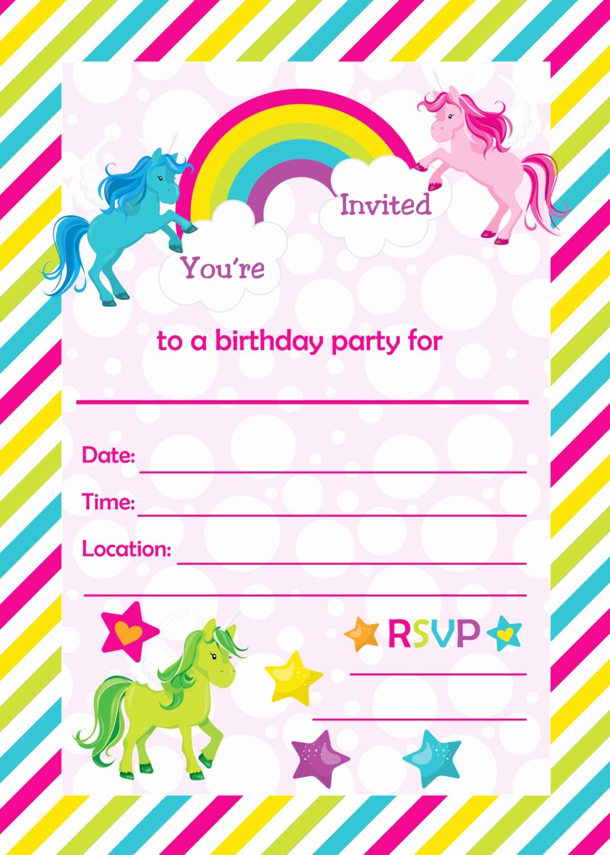 Free Templates for Birthday Invitations Fresh Free Unicorn Baby Shower Invitation Templates