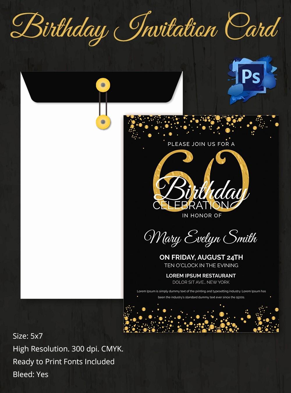 Free Templates for Birthday Invitations Inspirational Birthday Invitation Template 32 Free Word Pdf Psd Ai