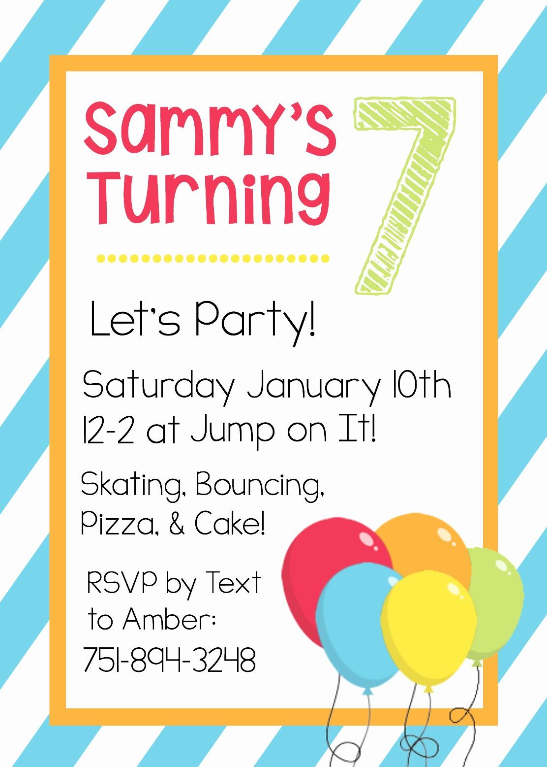 Free Templates for Birthday Invitations Inspirational Free Printable Birthday Invitation Templates