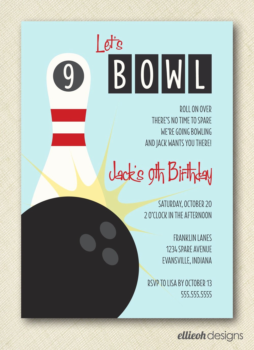 Free Templates for Birthday Invitations Inspirational Free Printable Bowling Party Invitation Templates