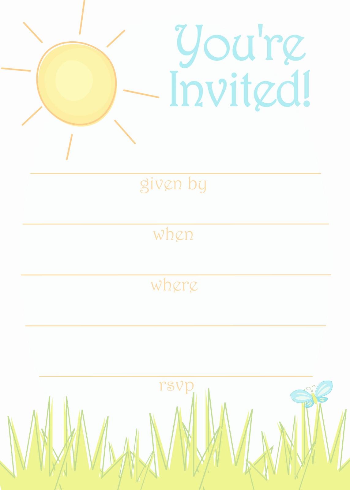 Free Templates for Birthday Invitations Luxury Free Party Invitation Templates