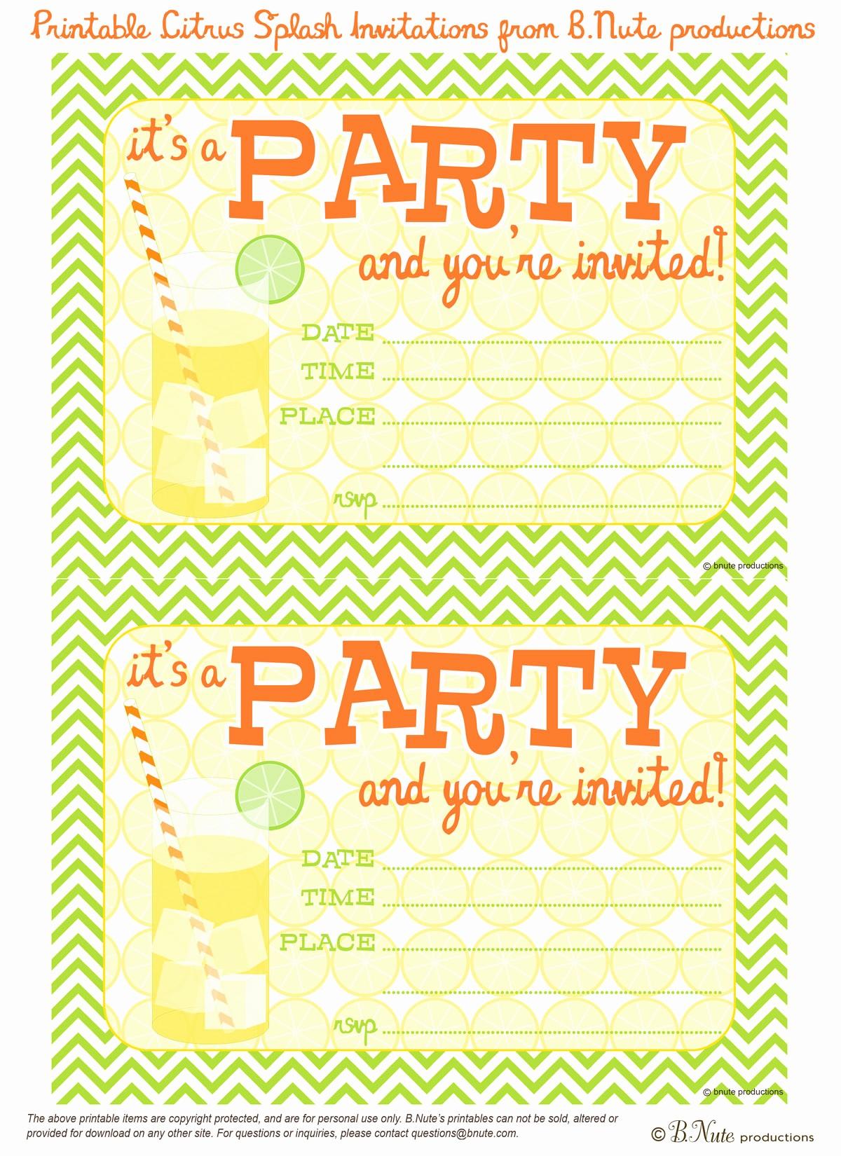 Free Templates for Birthday Invitations Luxury Party Invitation Templates Free Printable Party