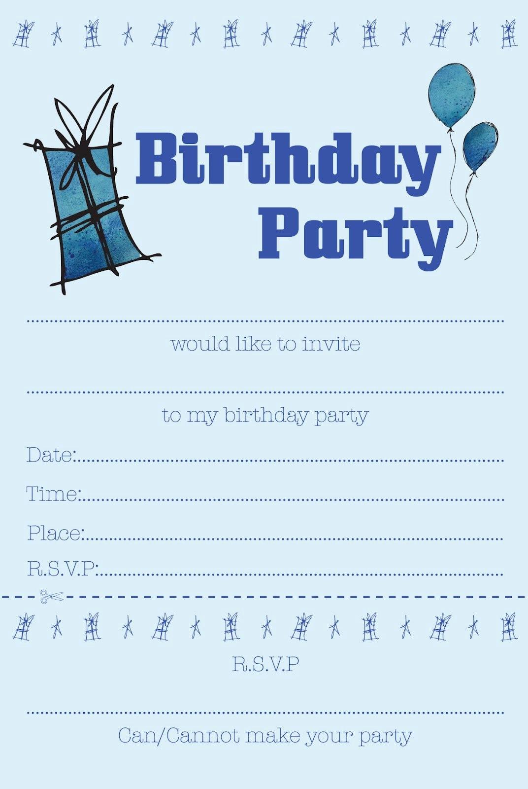 Free Templates for Birthday Invitations Unique Boys Birthday Party Invitations Free Printable